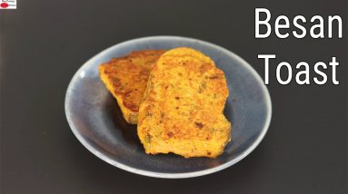 Besan Toast - Besan Bread Toast Recipe - How To Make Besan Toast - Skinny Recipes