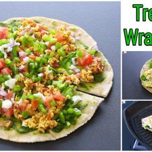 Two Trending Wrap Hack Recipes - Desi Version Trending Wraps - 100 % Whole Wheat | Skinny Recipes