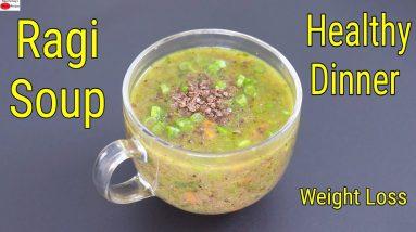 Ragi Soup - Healthy Ragi Soup Recipe For Dinner - Ragi Recipes For Weight Loss | Skinny Recipes