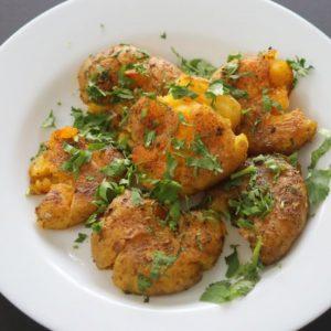Smashed Potato Recipe - How To Make Smashed Roasted Potatoes - Vegan Recipes | Skinny Recipes