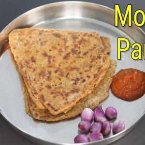 Moringa Paratha Recipe - Drumstick Leaves Paratha - Healthy Vegan Breakfast Recipe | Skinny Recipes