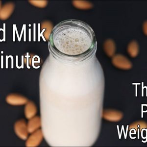 How To Make Almond Milk In 1 Minute - Instant Almond Milk Recipe - Thyroid/PCOS Weight Loss Recipes