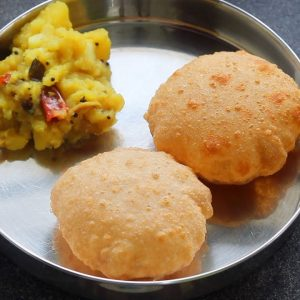 Poori Masala - Potato Baji Recipe - Potato Masala - ASMR | Skinny Recipes