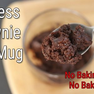 Brownie In A Mug - Eggless Brownie Recipe - No Baking Powder/No Baking Soda - Vegan | Skinny Recipes