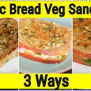 Garlic Bread Veg Sandwich - 3 Healthy Vegetable Sandwich Recipes-Quick Garlic Bread | Skinny Recipes