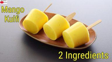 Mango Kulfi In 5 Minutes - 2 Ingredients - No Sugar No Cream No Cook No Cornflour | Skinny Recipes