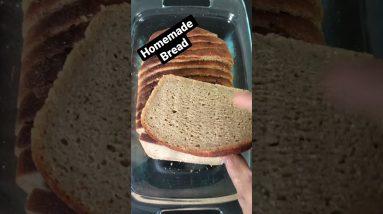 Homemade Whole Wheat Bread - Sandwich Bread Recipe #shorts | Skinny Recipes