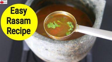 Easy Rasam Recipe Without Rasam Powder - Pepper Garlic Rasam - Skinny Recipes