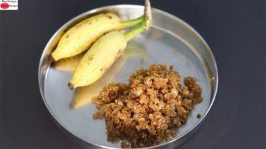 Oil Free Jowar Poha Snack - Healthy Jowar Flakes Snack Recipe (Sorghum) | Skinny Recipes